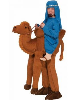 Kid's Brown Camel Desert International Costume Front View