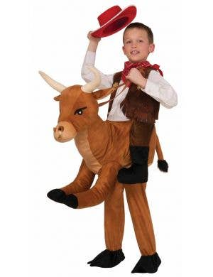 Boy's Wild West Cowboy Bull Costume Front View