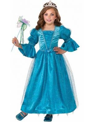 Girl's Blue Princess Costume Front View
