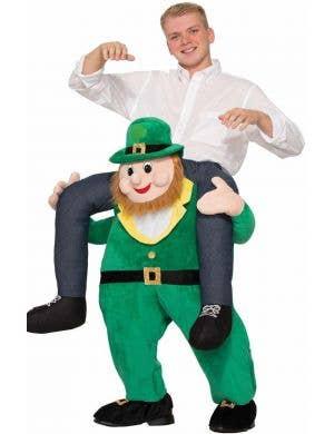 Novelty St Patrick's Day Funny Leprechaun Piggy Back Irish Costume