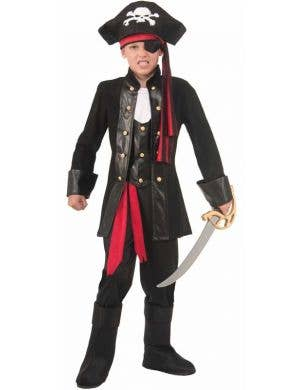 Pirate Captain Boy's Costume Dress Up Front View
