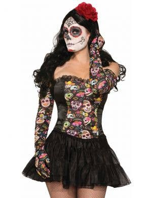 Day of the Dead Women's Costume Gloves