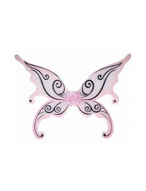 Glitter Pink and Black Butterfly wings Image 1