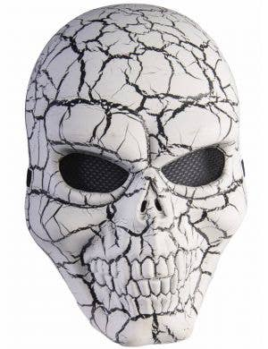 Cracked Venetian Skeleton Halloween Costume Mask