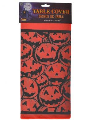 Spooky Pumpkin Plastic Table Cover Halloween Decoration