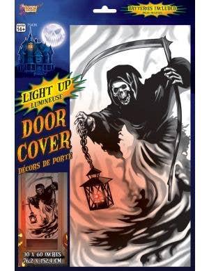 Light Up Grim Reaper Door Cover Halloween Decoration