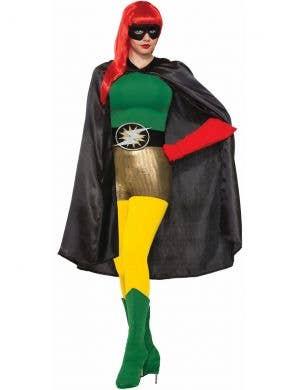 Superhero Adults Costume Accessory Cape - Black