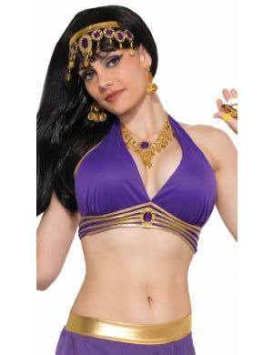 Desert Princess Women's Purple Halter Genie Costume Top
