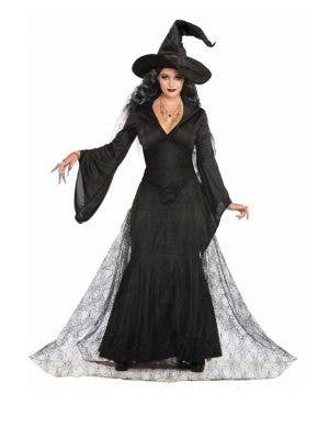 Black Mist Witch Women's Halloween Fancy Dress Costume