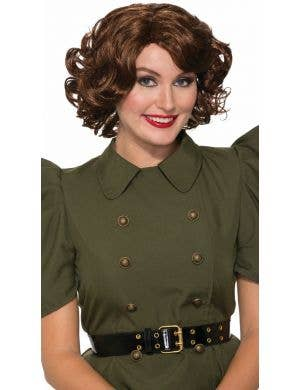 Betty Brown 1940's Women's Curly Costume Wig