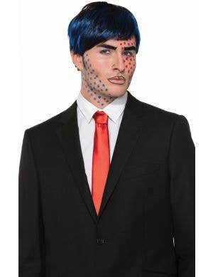 Bobby Boom Short Black And Blue Men's Costume Accessory Wig