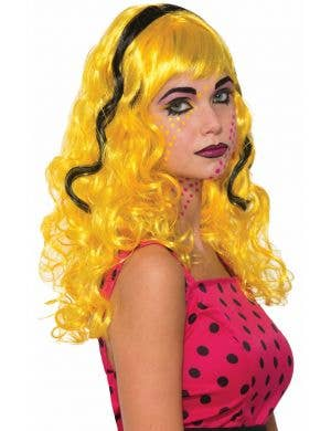 Wendy Wow Yellow and Black Women's Pop Art Costume Wig