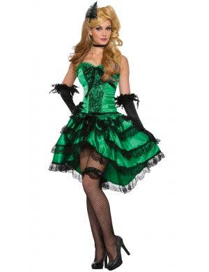 Emerald Saloon Girl Women's Burlesque Costume