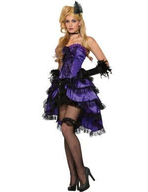Amethyst Saloon Girl Burlesque Women's Costume