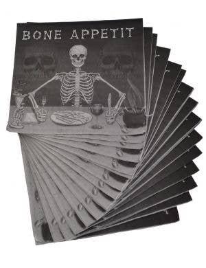 Bone Appetit Halloween Skeleton Napkins - 16 Pack