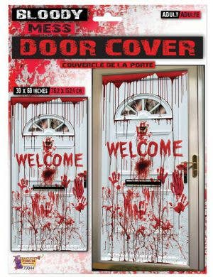 Bloody Mess Welcome Halloween Door Cover