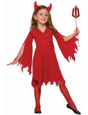 Devil Girls Red Halloween Fancy Dress Costume