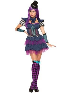 Short Purple And Blue Alice In Wonderland Costume Image 1