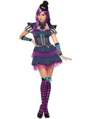 Short Purple And Blue Alice In Wonderland Costume Image 1
