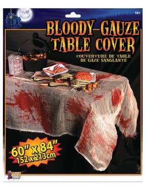 Bloody Gauze Halloween Table Cover
