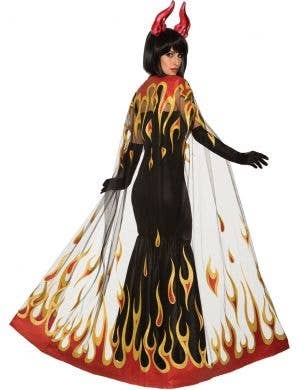 Demons and Devils Red Flame Costume Cape