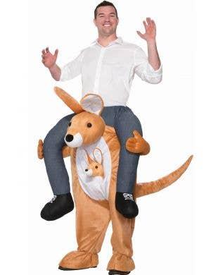 Kangaroo Ride On Piggyback Novelty Dress Up Costume Front
