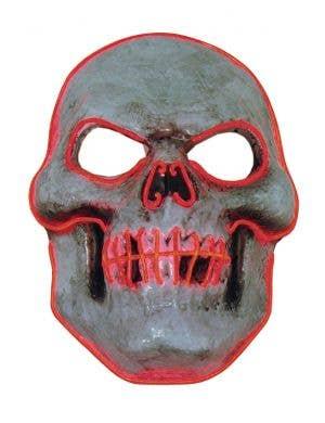 Evil Red Skull LED Light Up Halloween Costume Mask