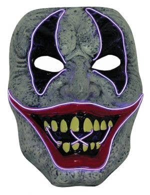 Evil Clown LED Light Up Halloween Costume Mask
