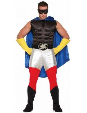 Superhero Adults Costume Accessory Cape - Blue