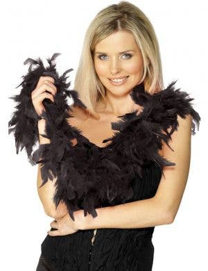 Budget Feather Boa in Black