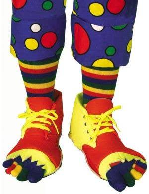 Clown Shoes and Toe Socks Costume Set