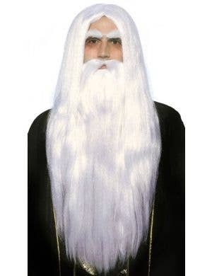 Merlin Wizard Beard and Wig Set