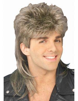 80's Heart Throb Men's Mullet Wig