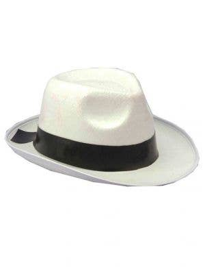 1920's White Gangster Hat Great Gatsby Costume Accessory