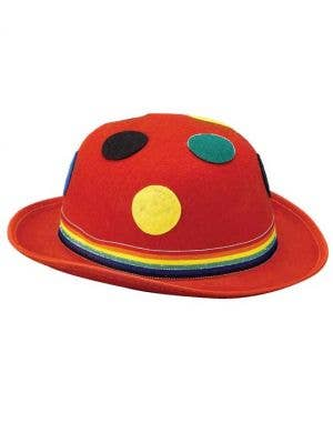 Polka Dot Red Clown Costume Hat