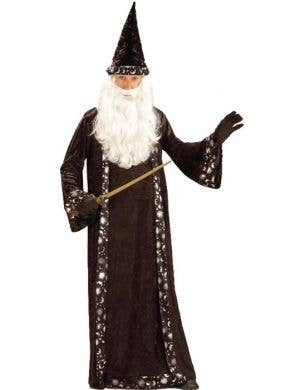 Men's Black Wizard Halloween Costume Front