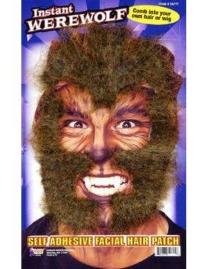 Instant Werewolf Facial Hair Costume Accessory