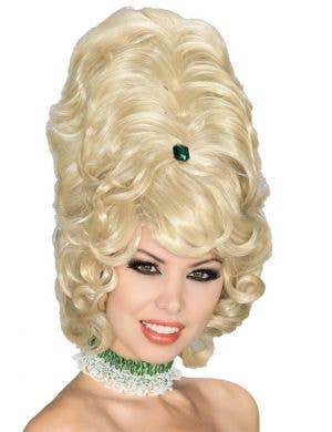 Jeweled Blonde 1960's Beehive Women's Costume Wig