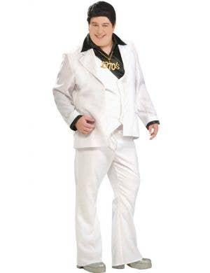 Plus Size Men's Saturday Night Fever 70's Disco Costume Front