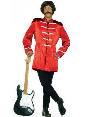 Red Beatles Men's British Rock Star Costume Front