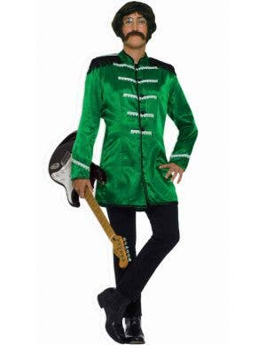 Men's Green British Explosion Beatles Costume Front