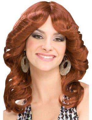 Disco Doll Women's Auburn Farrah Fawcett Wig