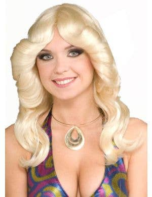 Disco Doll Women's Blonde Farrah Fawcett Wig