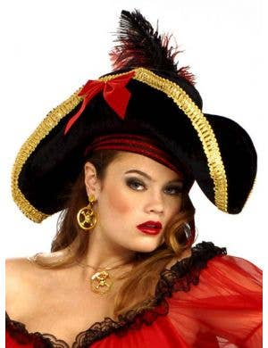 Lady Buccaneer Pirate Wench Costume Hat