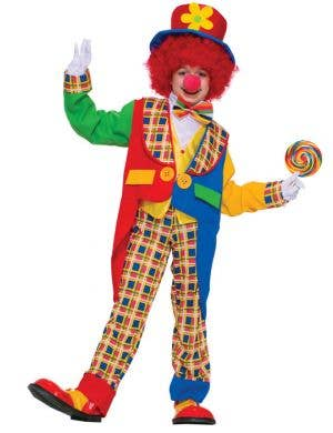 Kid's Circus Clown Rainbow Book Week Costume Front