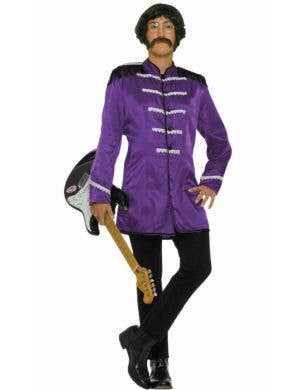 British Explosion Men's Purple Beatles Costume