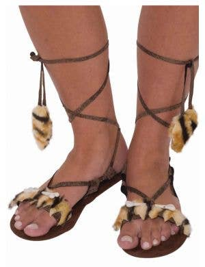 Stone Age Caveman Women's Costume Sandals
