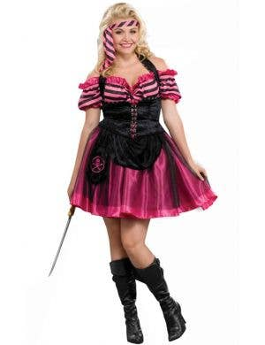 Pink Pirate Plus Size Women's Costume