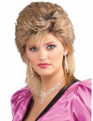 1980's Women's Blonde Mullet Wig