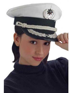White Sailor Navy Officer's Hat